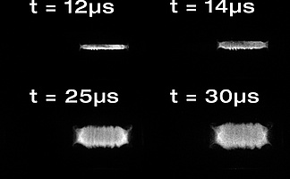 A sequence of exploding titanium wires as recorded with a hsfc pro MCP image intensifier camera system