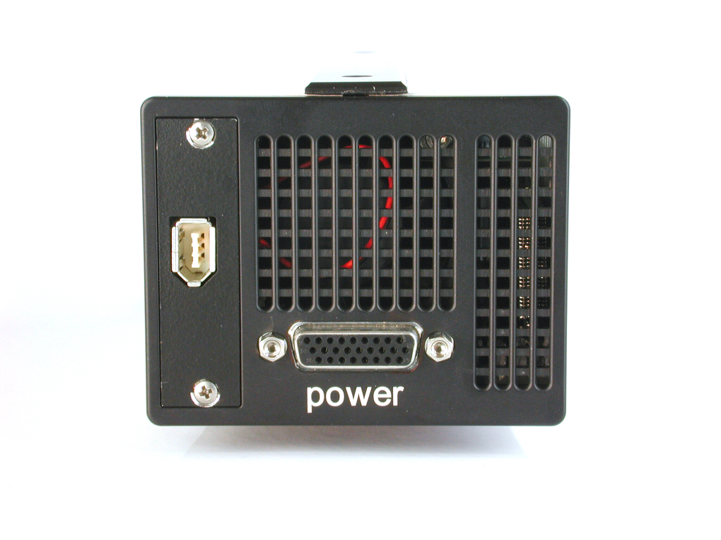 pco.1200s highspeed CMOS camera system rear view image Firewire