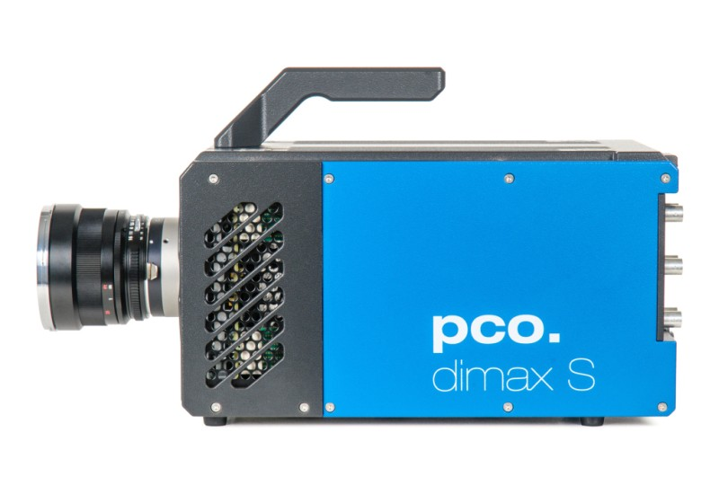 blue highspeed camera pco.dimax S, side view